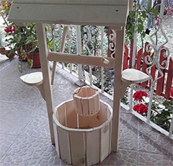 Декорации за градина, кладенец