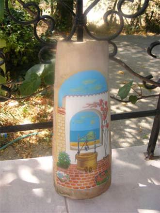 Рисувани керемиди за градина