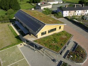 Наклонен зелен покрив