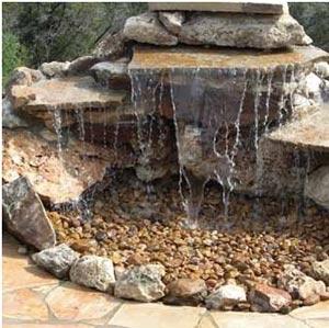 фонтан от камъни