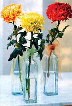 Хризантеми във вазата